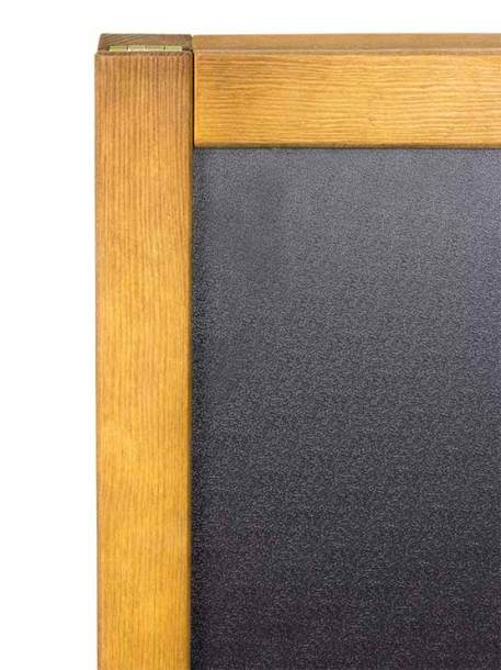 Pizarra Negra Doble Impermeable marco