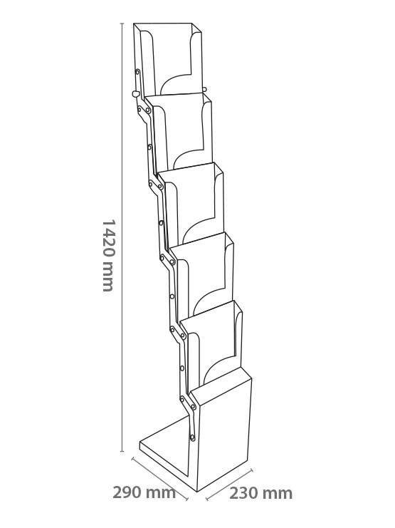 Porta Folletos Portátil plegable imagen 2