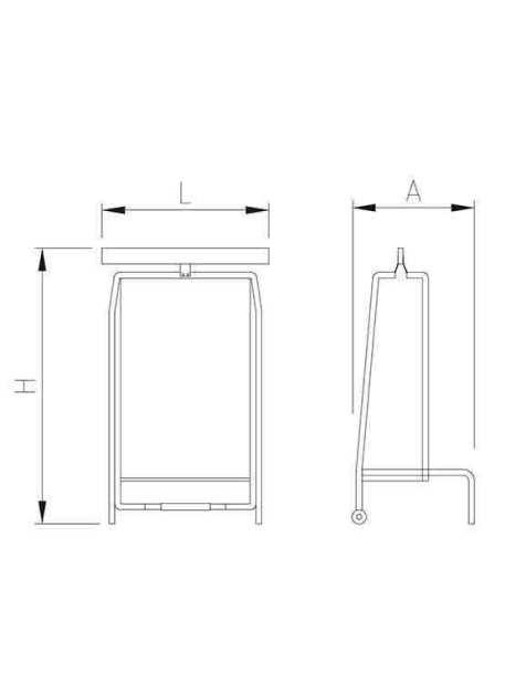 porta bolsas tijera con pedal imagen 2