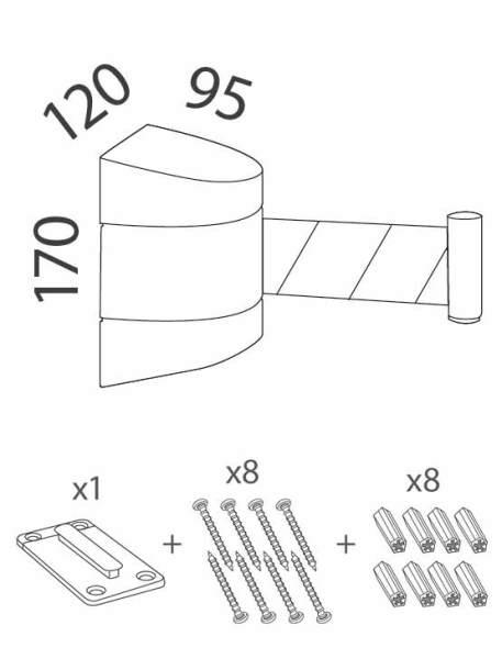 cinta retráctil para pared medidas y accesorios