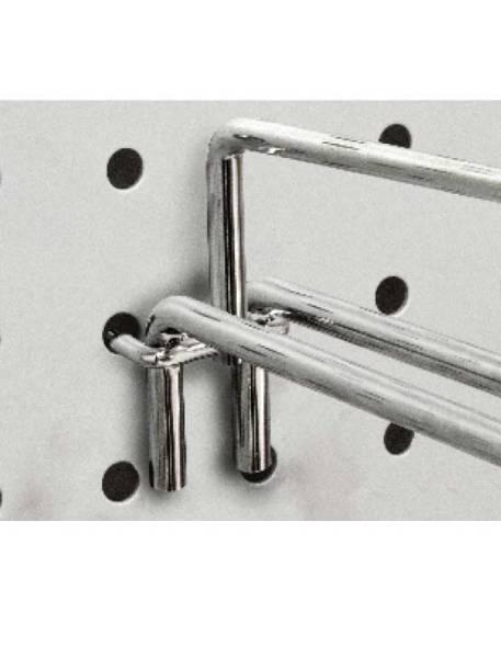 Gancho de varilla para fondo perforado doble con T detalle