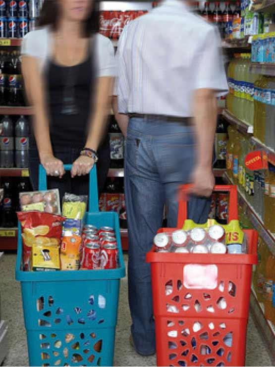 cestas para supermercado gran capacidad