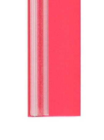 perfil etiquetero cristal rojo