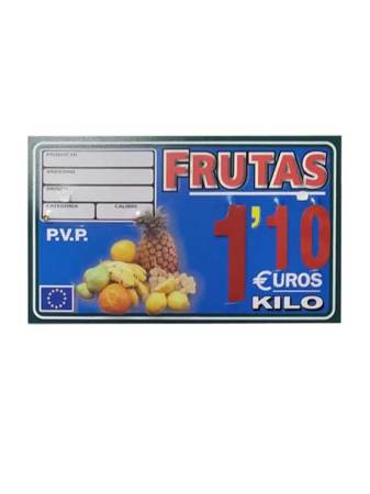 Portaprecio fruta (paleta, ganchos o pletinas)