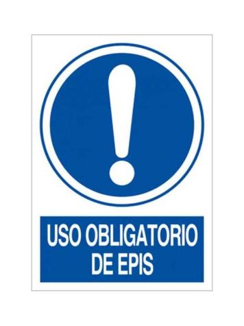 Cartel uso obligatorio de epis