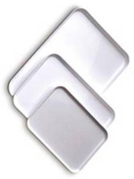 Bandejas plástico blancas metacrilato grandes