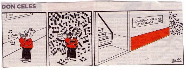 Don Celes en el conservatorio de música