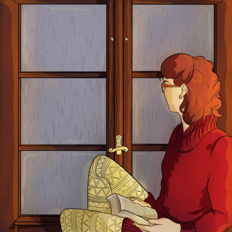 illustration, artwork, by the window, personal