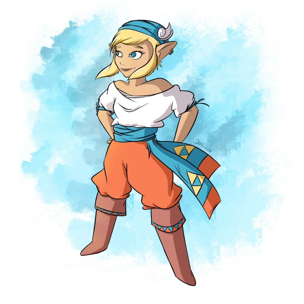 pirate, zelda, oot, ocarina of time, legend of zelda, fan art,