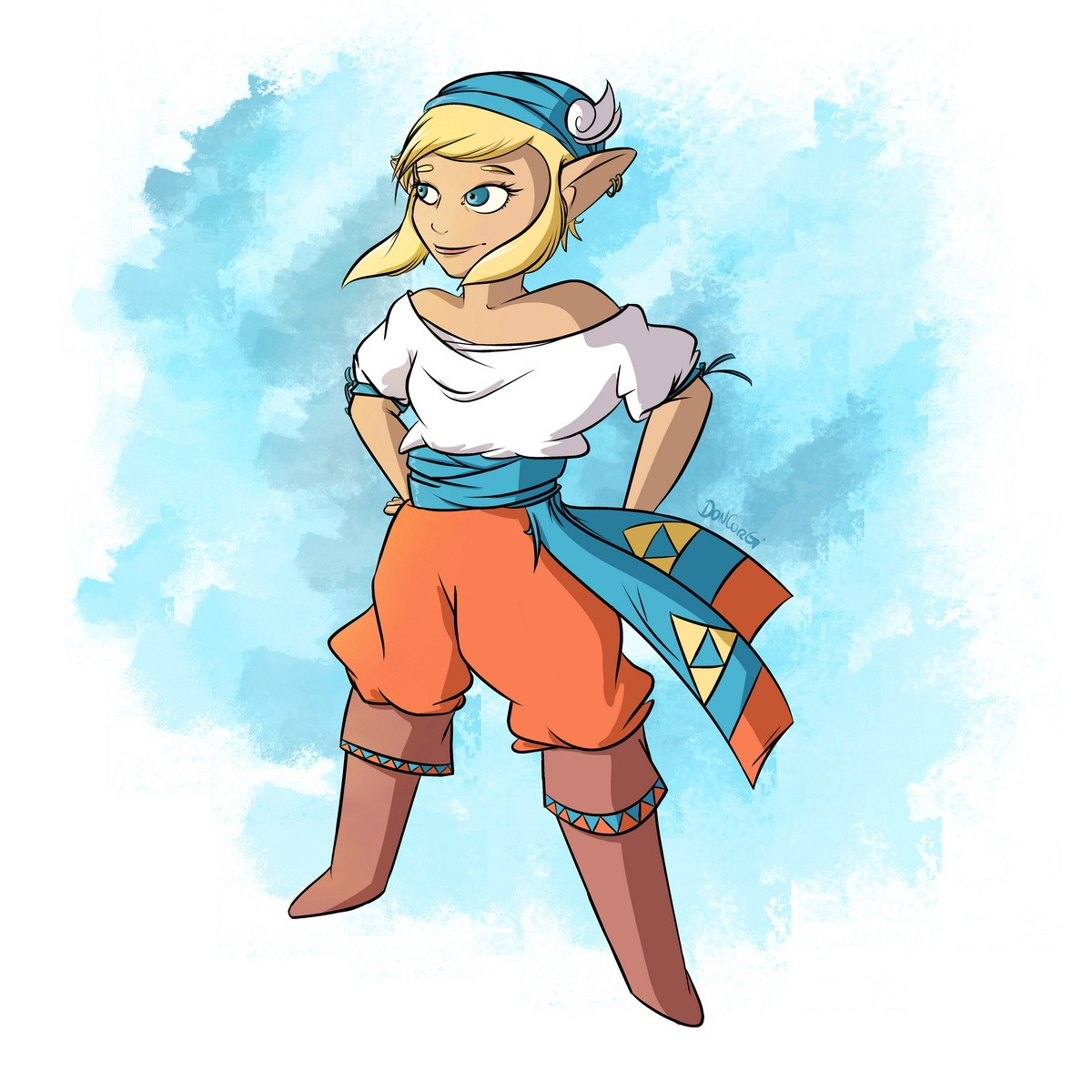 pirate, zelda, oot, ocarina of time, legend of zelda, fan art,