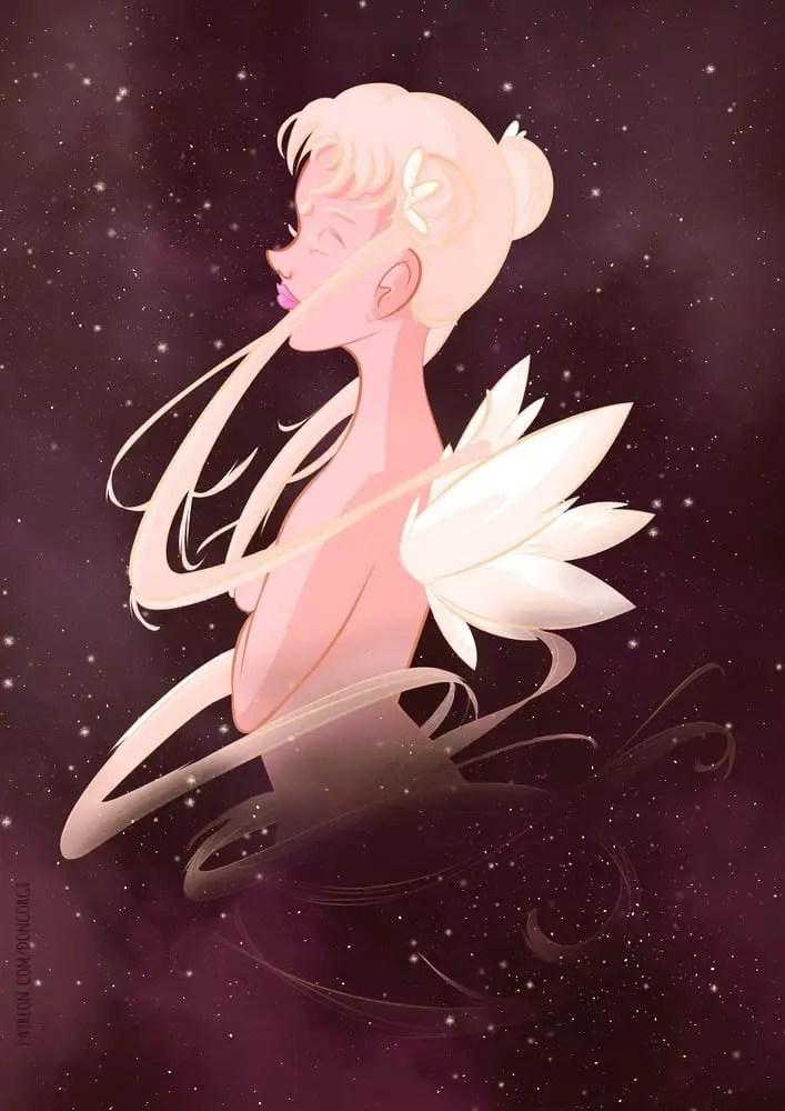 sailor Moon Fan Art, Usagi Tsukino, Digital Painting, Sexy, Illustration