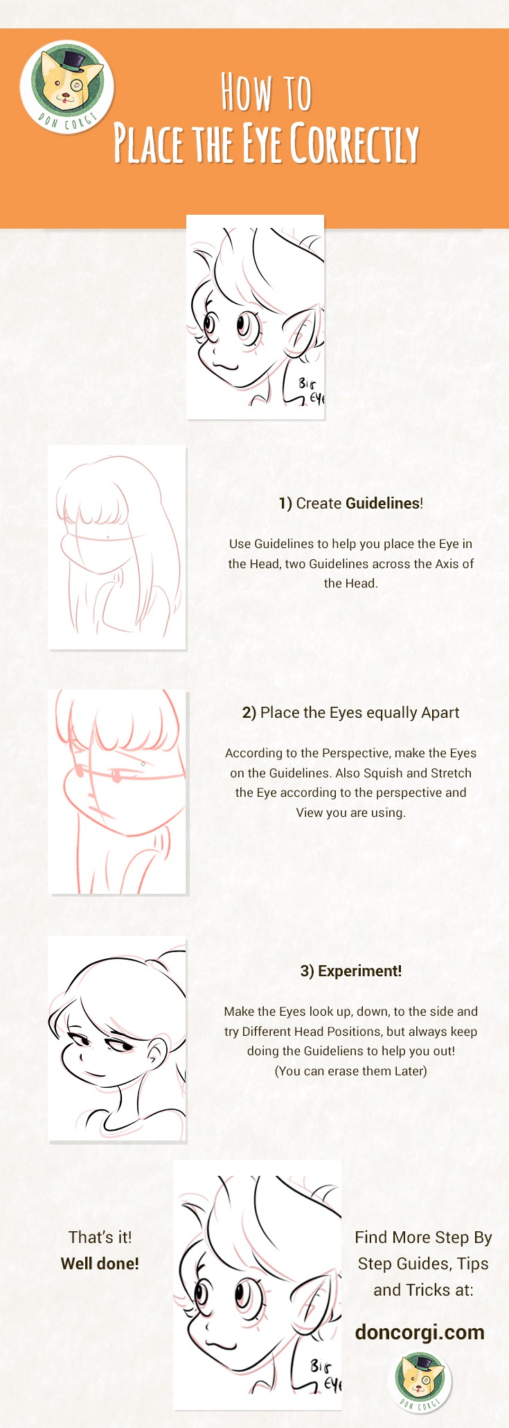 How to Draw Eyes - Face Proportion by Don Corgi