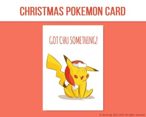 """Pokemon Printable Christmas Card, and 7 more on Etsy! by Don Corgi (""""All I want for Christmas is Mew!"""")"""