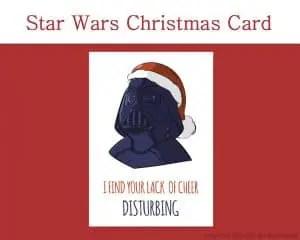 Star Wars Printable Christmas Card, and 7 more on Etsy! by Don Corgi