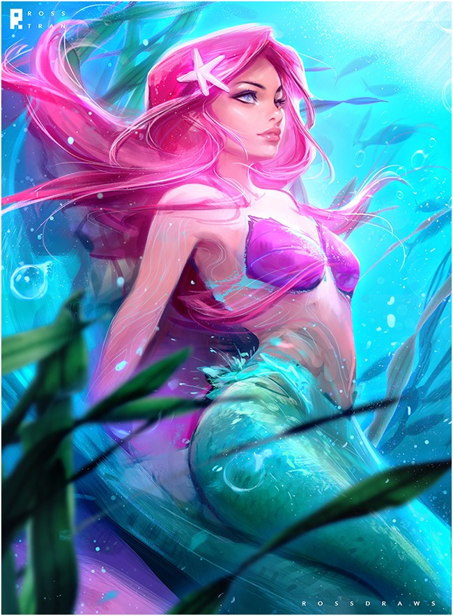 Ariel by Ross Tran aka Ross Draws on Deviantart - Don Corgi Inspirational Tuesday