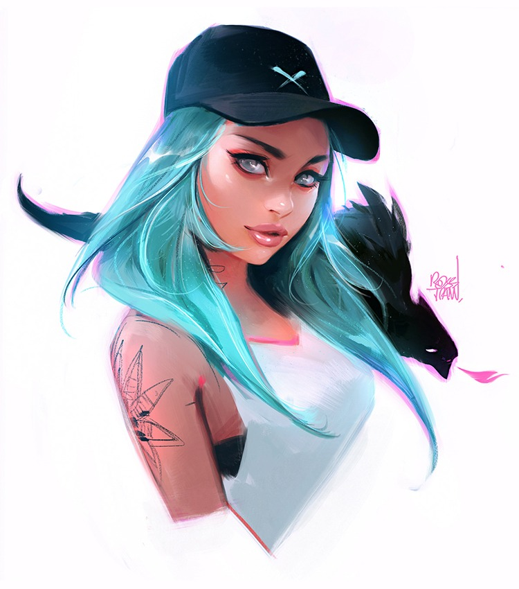 Cap Girl by Ross Tran aka Ross Draws on Deviantart - Don Corgi Inspirational Tuesday