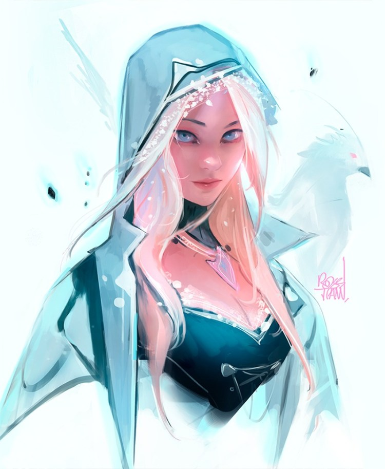 winter portrait by Ross Tran aka Ross Draws on Deviantart - Don Corgi Inspirational Tuesday
