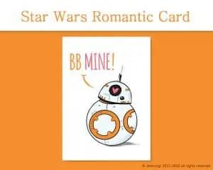 Printable Valentine Cards, Star Wars BB Mine! - by Don Corgi on Etsy