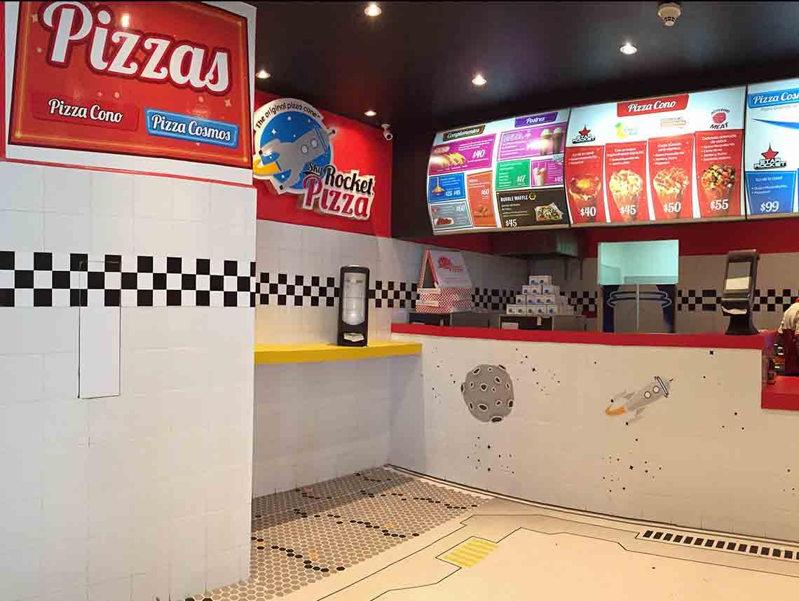 sky rocket pizza en ciudad de mexico