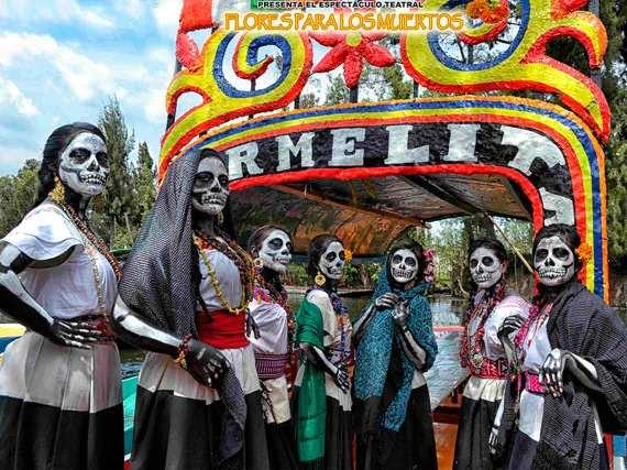 La Catrina En Trajinera 2017 en Xochimilco