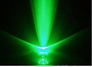 20 Pezzi Led VERDE - Green 5 mm standard super bright LED light-emitting Diodos