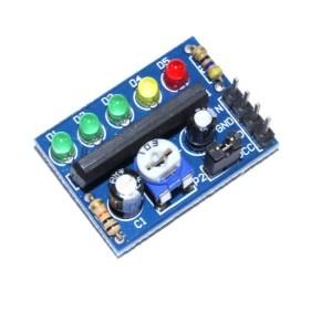 KA2284 level indicates the Modulo, Batteria indicator, audio level indicator