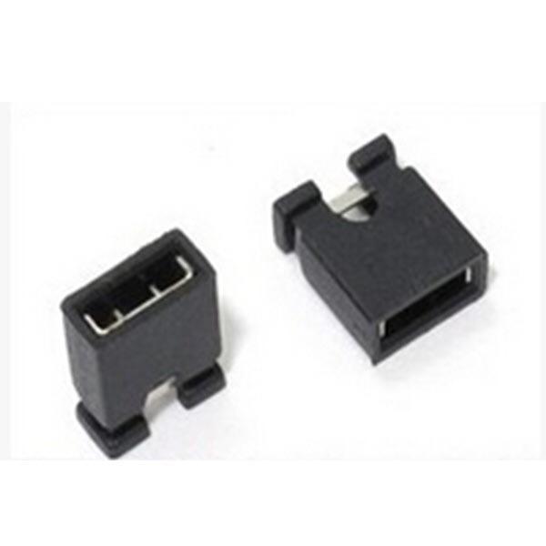 100 Pezzi 1.27 mm single row pin jumper cap, short circuit blocks, connecting blocks
