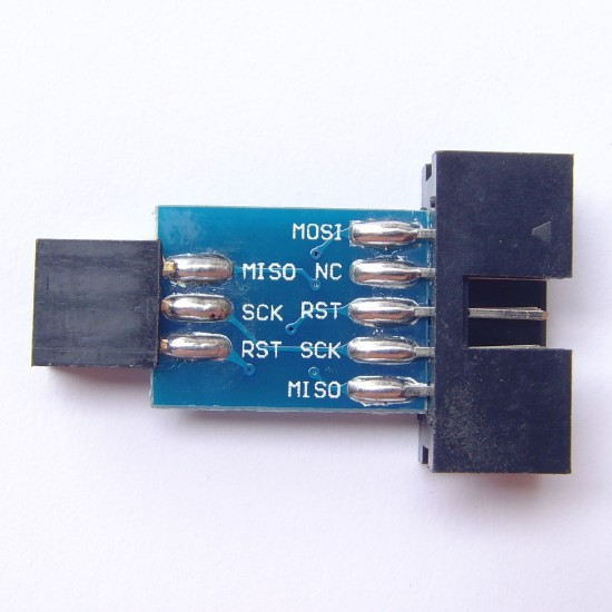AVRISP USBASP STK500 10PIN turn 6PIN Adattatore board