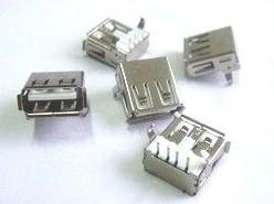 6 Pezzi USB-A type Connettore Femmina, 90 degree curved legs, A Femmina USB socket, looper, USB-A type Connettore