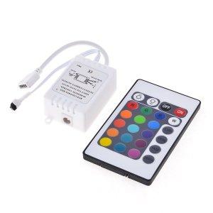24 Key Dc 12V Ir Controllo Remotoler Wireless For Rgb Smd Led Light Strip