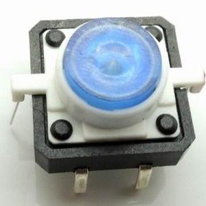Blue LED 12V 12x12dip Illuminated Tactile Pulsante with transparent bottone