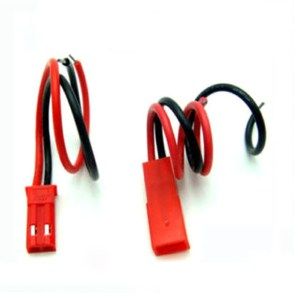 JST Plug Connettore 2-Pin + 100mm Silicone Wire