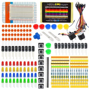 H004 Electronic Components Fans Package Kit 02 with Breadboard,Wire per Arduino