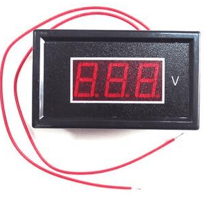AC 60-500V 2-Wire Mini Red LED 3-Digit Volt Voltaggio Panel Meter Voltmetro