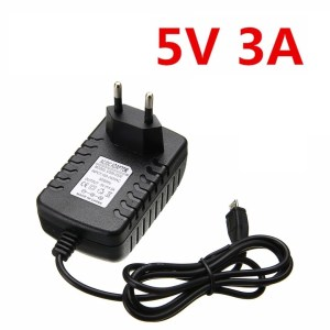 5V 3A EU Adattatore With Micro USB Header
