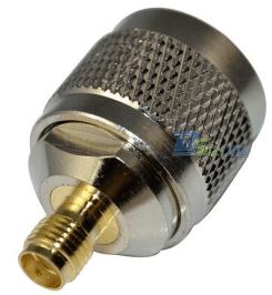 1 Pezzi Copper N Maschio to SMA Femmina Jack straight RF Coaxial Connettore Adattatore