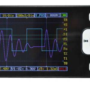 DS0201 Oscilloscopio digitale tascabile con display LCD da 2,8 ''