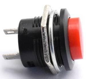 3 Pezzi R13-507 / Bottone 16mm / Rosso 16mm Senza interruttore autobloccante