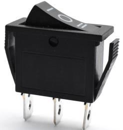Switch 2 pezzi KCD3 Round nero / KCD3 / 3pins 3 Posizioni 15A 250V Switch