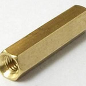 3 pezzi M3 * 30MM cilindro esagonale in ottone - dorato