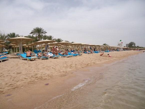 La playa de Naama Bay, en Sharm El-Sheikh