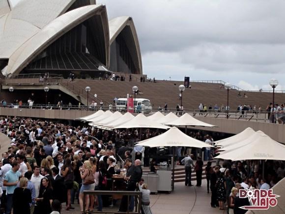 Bares frente a la Ópera de Sydney