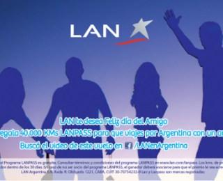 Creativa acción de LAN para el Día del Amigo