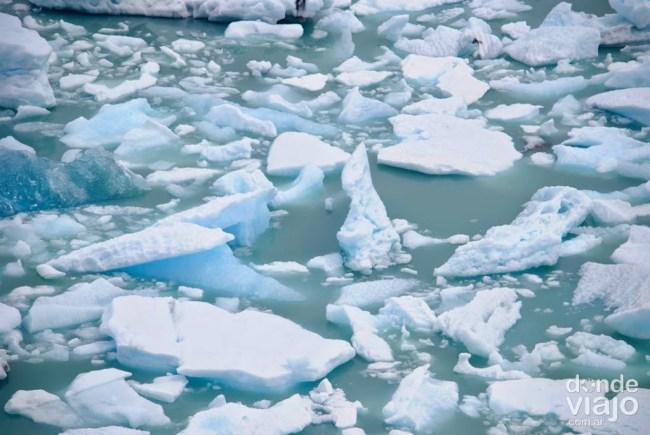 Témpanos frente al Glaciar Perito Moreno