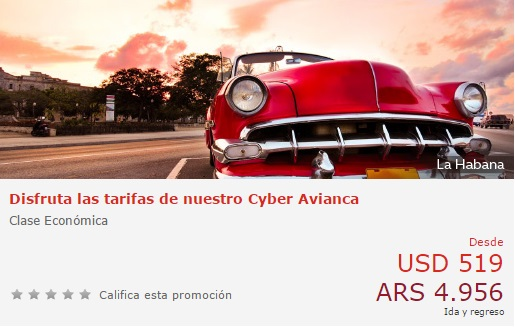 Cyber Monday en Avianca