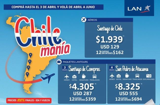 Promo a Chile con LAN