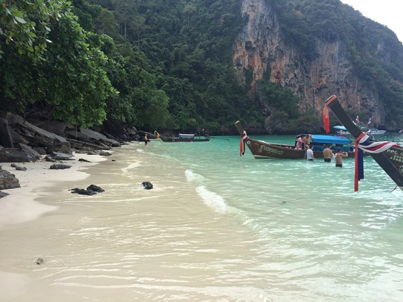 Playa de Monkey Beach en Ko Phi Phi