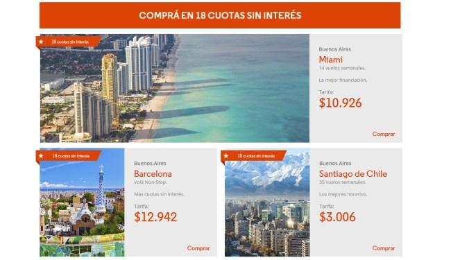 Hot Sale de Aerolíneas Argentinas