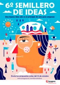 Don Diseño El emprendedor no esta solo - 07 - cartel Semillero de Ideas de Zaragoza Activa - La Azucarera - Ayuntamiento de Zaragoza
