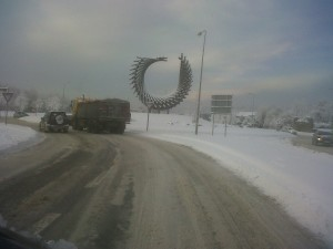 Letterkenny's Polestar in the snow!